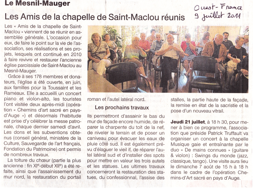 Ouest France 09/07/2011