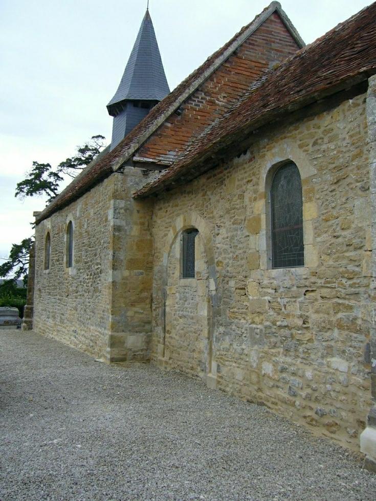 L'ensemble du mur sud restauré