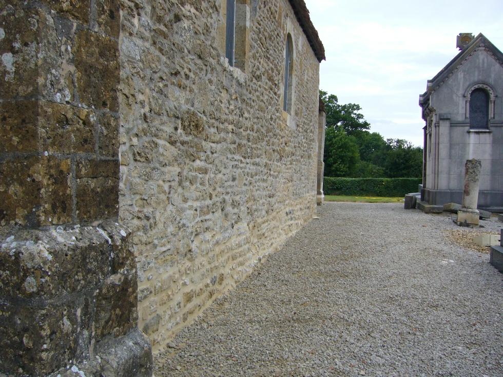 Fin des travaux sur le mur sud