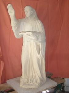 La statue de St marcouf à la sortie du four
