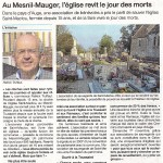 Article Ouest France du 01/11/2009