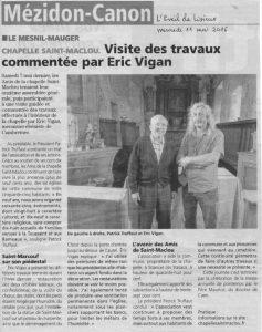 Article du 11/05/2016 Eveil de Lisieux