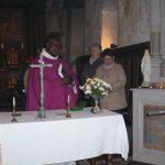 Bénediction de la statue de la Vierge